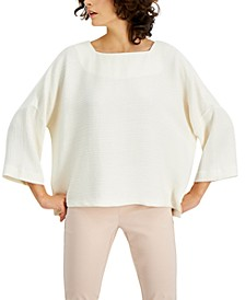 Textured-Stripe Top, Created for Macy's
