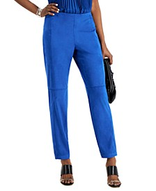 Faux-Suede Skinny Pants, Created for Macy's