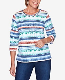 Women's Missy Hunter Mountain Textured Biadere Top