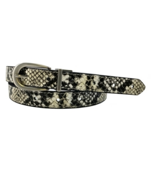 Women's Reversible Python Belt