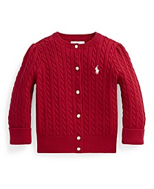 Ralph Lauren Baby Girls Cable Cardigan