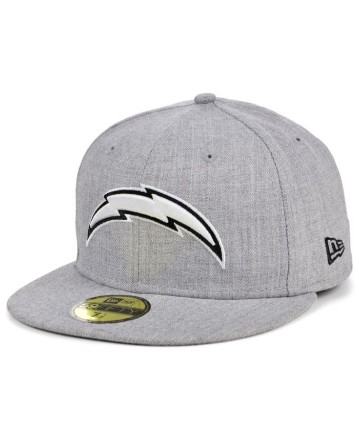 New Era Los Angeles Chargers Heather Black White 59FIFTY Cap & Reviews - NFL - Sports Fan Shop - Macy's