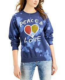Women's Peace & Love Cotton Tie-Dye Sweatshirt