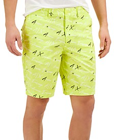 Fluorescent All-over Logo Shorts, Created for Macy's