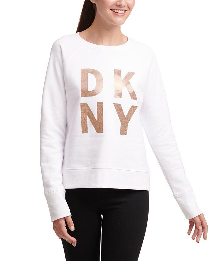 DKNY - Sparkle-Logo Fleece Sweatshirt