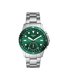 Men's Hybrid Smart Watch FB-01 Silver-Tone Bracelet Watch 42mm