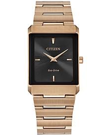 Unisex Rose Gold-Tone Bracelet Watch 27.6mm