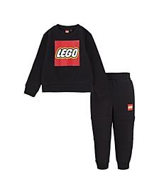LEGO Toddler Boys Crewneck Sweatshirt and Joggers Set