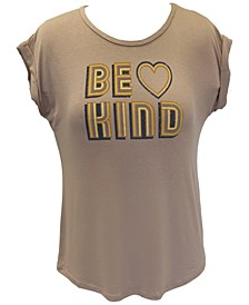 Plus Size Be Kind-Graphic Top, Created for Macy's