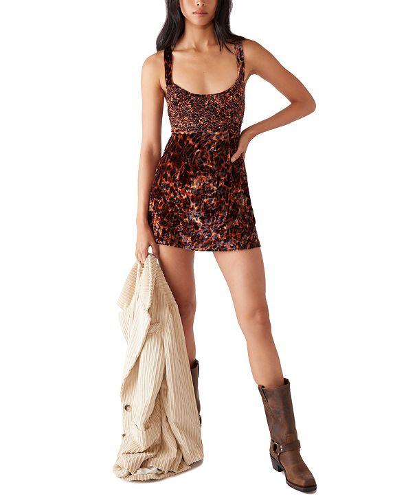 Free People Virgo Moon Velvet Mini Dress