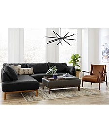 Jollene Leather Sofa Collection, Created for Macy's