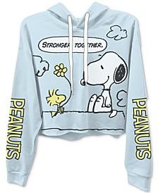 Trendy Plus Size Peanuts Cropped Hoodie