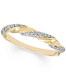 Diamond Twist Band (1/4 ct. t.w.) in 10k Gold