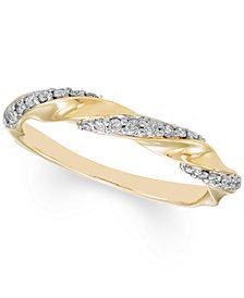 Diamond Twist Band (1/4 ct. t.w.) in 10k Gold