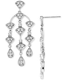 Diamond Chandelier Drop Earrings (1 ct. t.w.) in 14k White Gold
