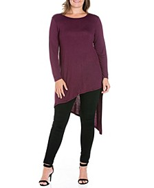 Women's Plus Size Asymmetrical Tunic Top