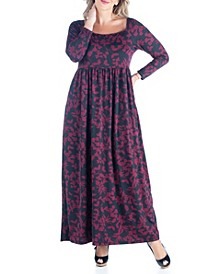 Women's Plus Size Floral Print Maxi Dress