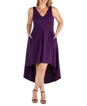 Womens Plus Size High Low Party Dress