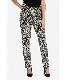 Animal Jacquard Printed Ankle Pant