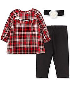 Baby Girl Plaid Tunic Set-Hband