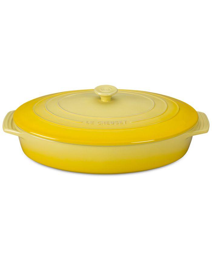 Le Creuset - 3.75-Qt. Stoneware Covered Oval Casserole