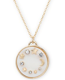 """Gold-Tone Crystal Celestial 20"""" Pendant Necklace"""