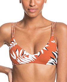 Juniors' Honey Athletic Triangle Bikini Top