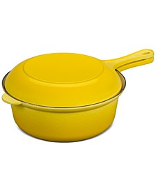 Cast Iron 3.75-Qt. Multifunction Saucepan with Skillet Lid