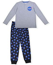 Big Boys NASA Print Pajama Set