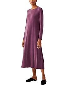 Crewneck Long Sleeve Dress
