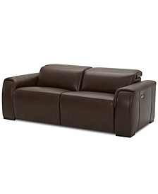 Dallon 2-Pc. Leather Sofa with 2 Power Recliners, Created for Macy's