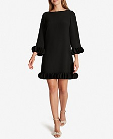 Petal-Trimmed Sheath Dress