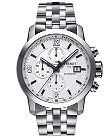 Men's Swiss Automatic Chronograph PRC 200 Stainless Steel Bracelet Watch 44mm T0554271101700