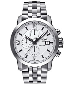 Tissot Men's Swiss Automatic Chronograph PRC 200 Stainless Steel Bracelet Watch 44mm T0554271101700