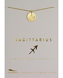 Zodiac Gold-Tone Charm Necklace, Sagittarius