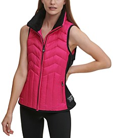 Colorblocked Puffer Vest