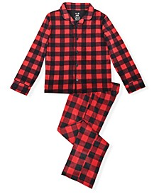Big Boy's 2 Piece Buffalo Check Plaid Pajama Set