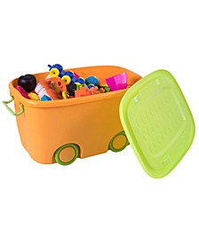 Stackable Toy Storage Box with Wheels, Set of 2