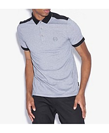 Heathered Colorblocked Polo Shirt
