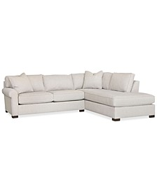 Jemanie 2-Pc. Fabric Sectional, Created for Macy's