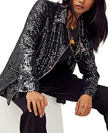 Midnight Message Sequin Jacket