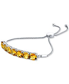 Citrine Bolo Bracelet (10-1/2 ct. t.w.) in Sterling Silver