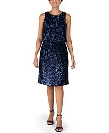 Sleeveless Sequin Blouson Dress