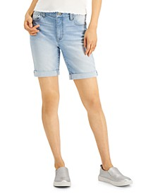Juniors' Roll-Cuff Bermuda Shorts