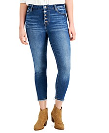 Juniors' High-Rise Cropped Skinny Jeans