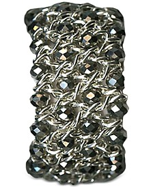 Silver-Tone Beaded Stretch Bracelet, Created for Macy's