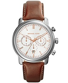 Men's Pennant Chronograph Brown Leather Strap Watch 43mm