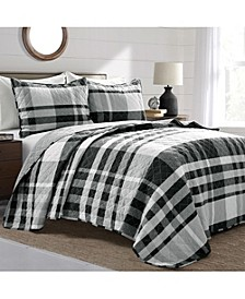 3-Piece Microfiber King Quilt Sets