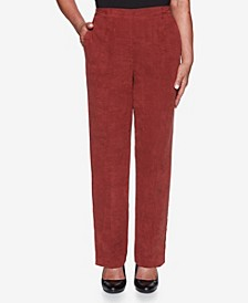 Women's Plus Size Catwalk Suede Proportioned Pant