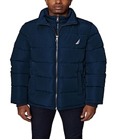 Men's Puffer with Bib Insert Jacket